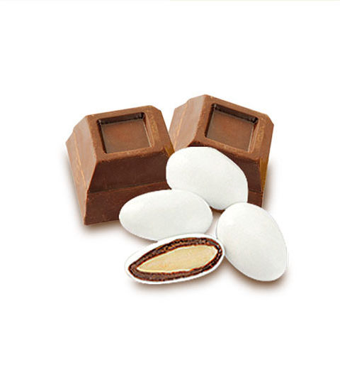 Confetti con mandorle ricoperte di cioccolato